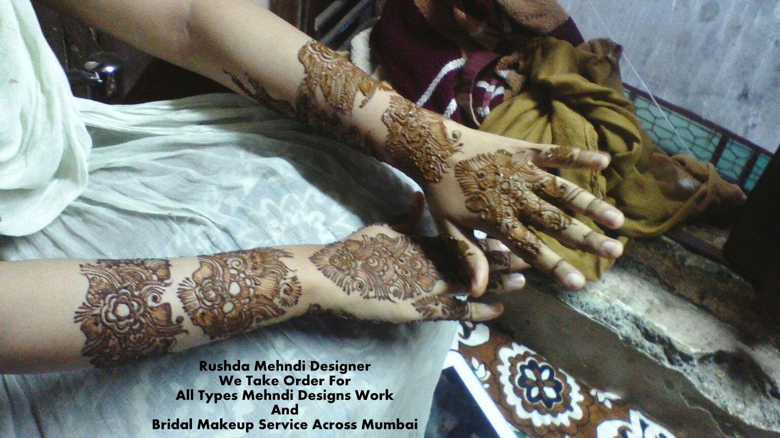 Mehndi Art Designs : Rushda mehndi designer heena artist in mumbai bridal