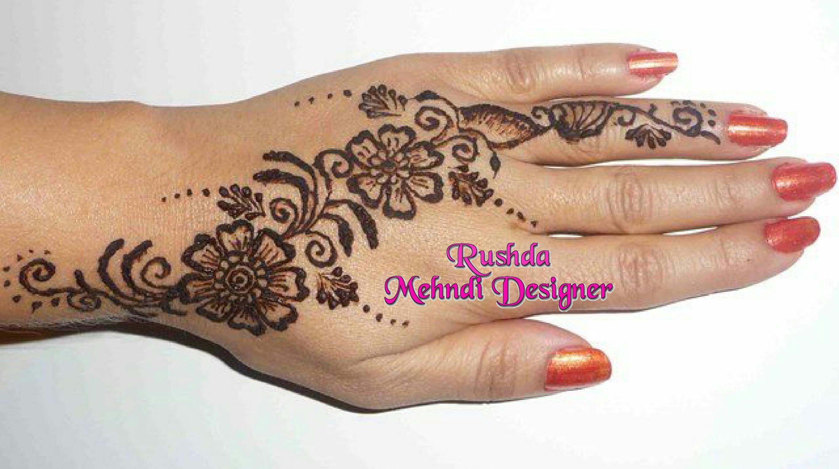 Mehndi Art Designs : Rushda mehndi designer near me in